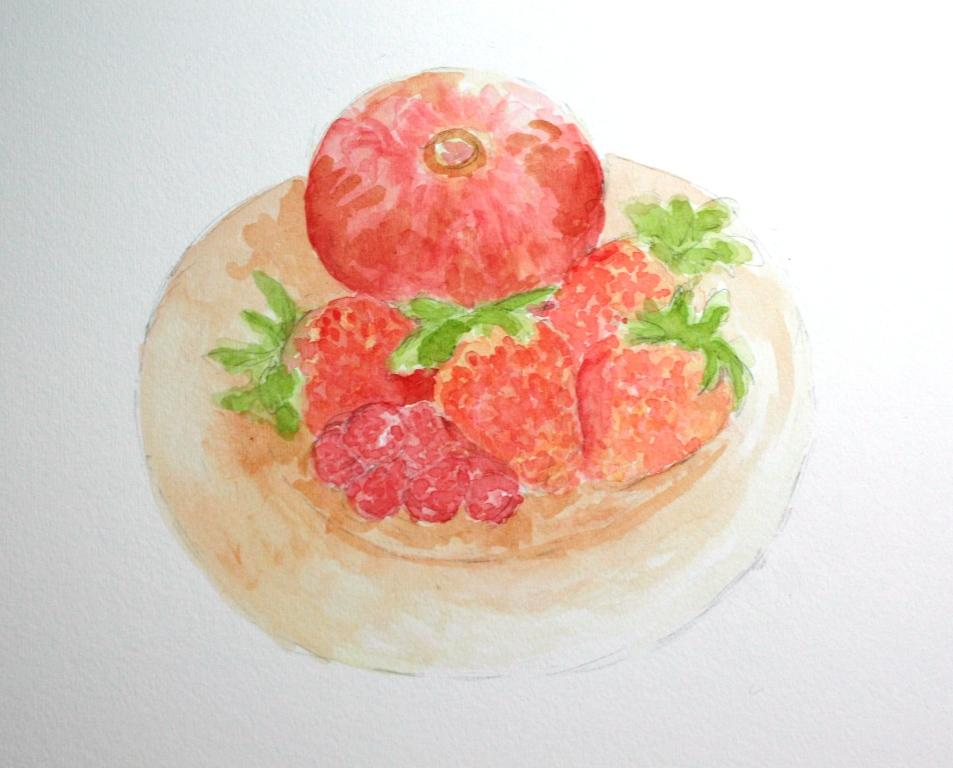 Fruit medley watercolor