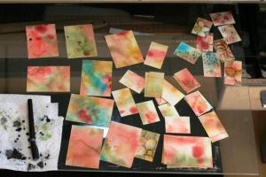 Aceo blanks being worked up