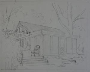 Cottage drawing