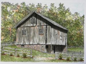 The watercolor barn