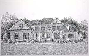 Brick house, inked