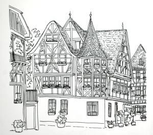 German streetscape