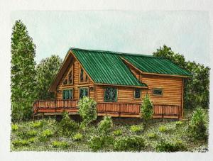 Colorado cabin colored