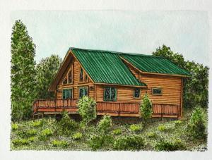 Colorado cabin colored