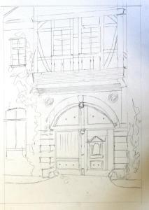 An elaborate door