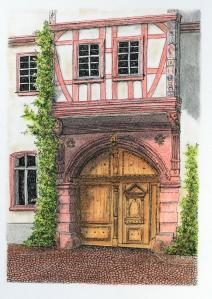 Wooden doorway