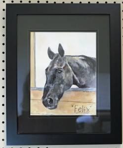 Felix, framed